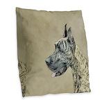Great Dane (Brindle) Burlap Throw Pillow