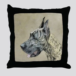 Great Dane (Brindle) Throw Pillow