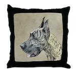 Great Dane (Brindle) Throw Pillow