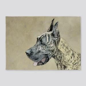 Great Dane (Brindle) 5'x7'Area Rug