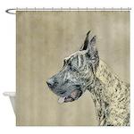 Great Dane (Brindle) Shower Curtain