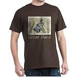 Great Dane (Brindle) Dark T-Shirt