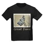 Great Dane (Brindle) Kids Dark T-Shirt