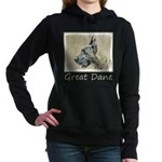 Great Dane (Brindle) Women's Hooded Sweatshirt