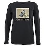 Great Dane (Brindle) Plus Size Long Sleeve Tee