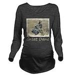 Great Dane (Brindle) Long Sleeve Maternity T-Shirt