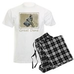 Great Dane (Brindle) Men's Light Pajamas