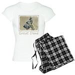 Great Dane (Brindle) Women's Light Pajamas