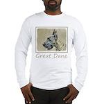 Great Dane (Brindle) Long Sleeve T-Shirt
