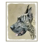 Great Dane (Brindle) Small Poster
