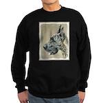 Great Dane (Brindle) Sweatshirt (dark)