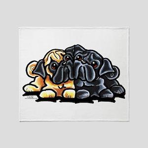 Love Pugs Throw Blanket