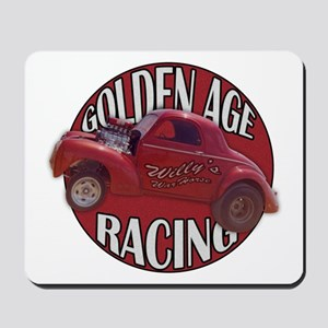 1941 Willys Race Red Mousepad