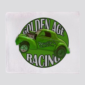 1941 Willys Gasser Lime Throw Blanket