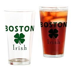 Boston Irish Drinking Glass