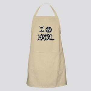 I Love Metal (blk/wht distortion) Apron