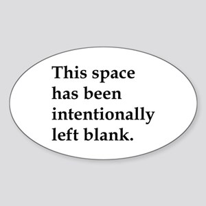 This Space Sticker (Oval)