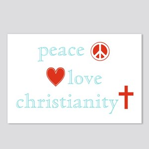 Peace, Love and Christianity Postcards (Package of