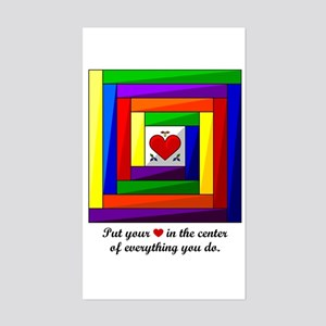 Quilt Square Sticker (Rectangle)