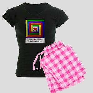 Quilt Square Women's Dark Pajamas