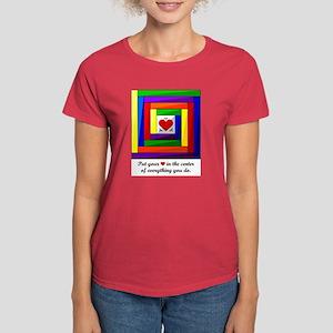 Quilt Square Women's Dark T-Shirt