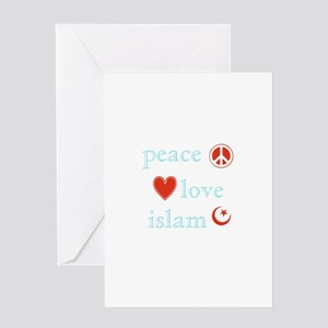 Peace, Love and Islam Greeting Card