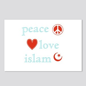 Peace, Love and Islam Postcards (Package of 8)