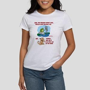 Women's T-ShirtSamTurtleArtFront:PretendBack