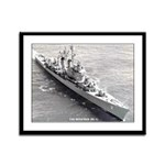 USS MITSCHER Framed Panel Print