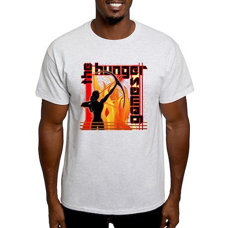 Katniss on Fire Hunger Games Gear Light T-Shirt