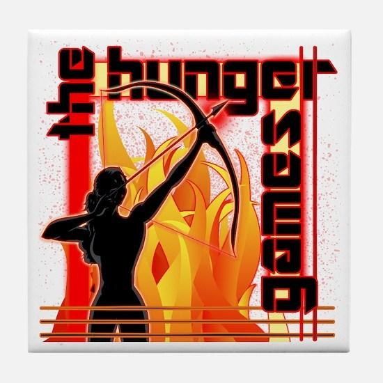 Katniss on Fire Hunger Games Gear Tile Coaster