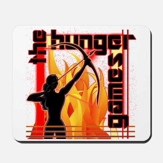 Katniss on Fire Hunger Games Gear Mousepad