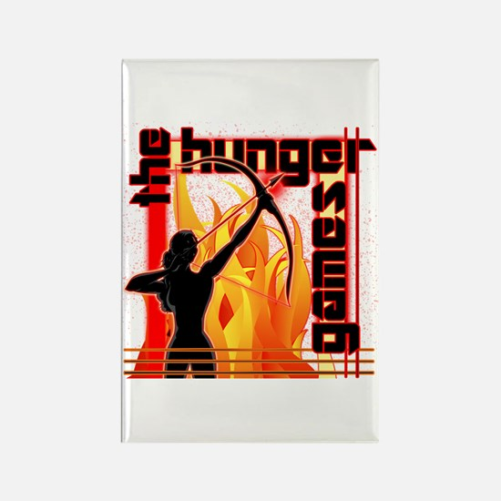 Katniss on Fire Hunger Games Gear Rectangle Magnet