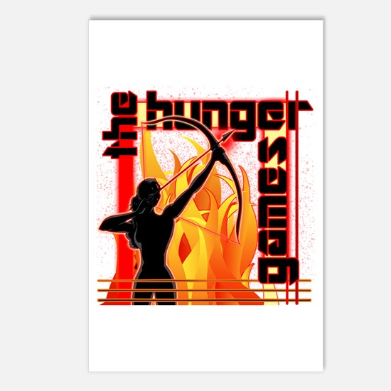 Katniss on Fire Hunger Games Gear Postcards (Packa