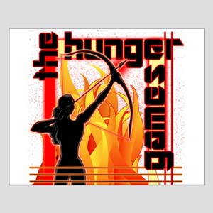 Katniss on Fire Hunger Games Gear Small Poster