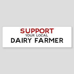 Support: DAIRY FARMER Bumper Sticker