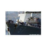 USS MITSCHER Rectangle Magnet