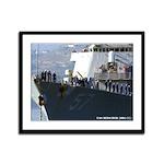 USS MITSCHER Framed Panel Print