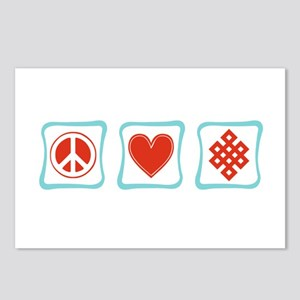 Peace, Love and Buddhism Postcards (Package of 8)