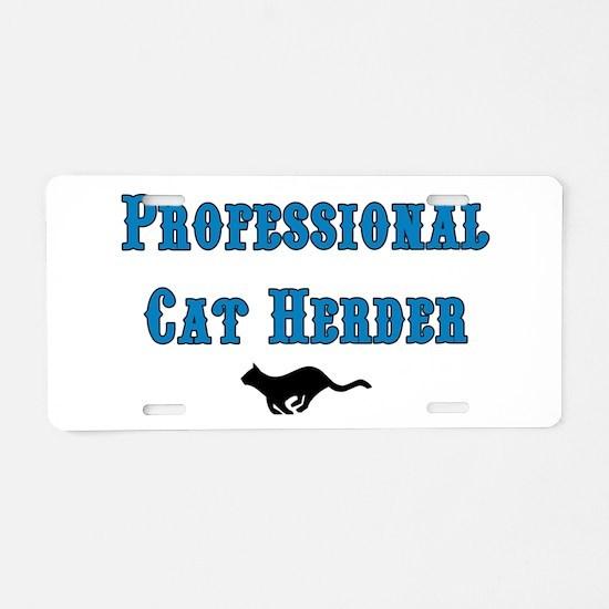 Professional Cat Herder Aluminum License Plate