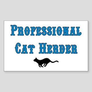 Professional Cat Herder Sticker (Rectangle)