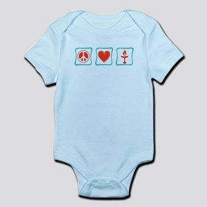 Peace, Love and Unitarianism Infant Bodysuit