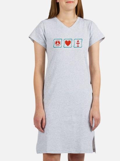 Peace, Love and Unitarianism Women's Nightshirt