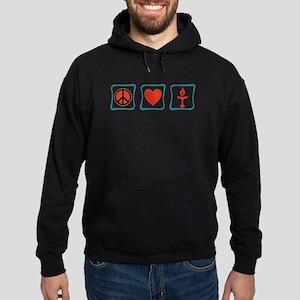 Peace, Love and Unitarianism Hoodie (dark)