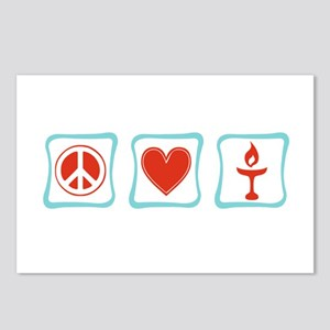 Peace, Love and Unitarianism Postcards (Package of