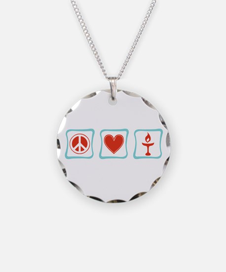 Peace, Love and Unitarianism Necklace