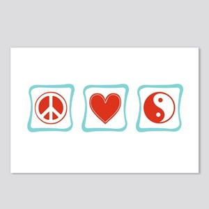 Peace, Love and Taoism Postcards (Package of 8)