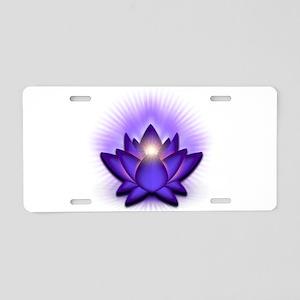 "Purple ""Third Eye"" Chakra Lotus Aluminum License P"