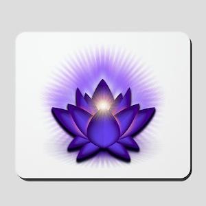 "Purple ""Third Eye"" Chakra Lotus Mousepad"