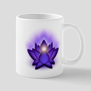 """Purple """"Third Eye"""" Chakra Lotus Mug"""